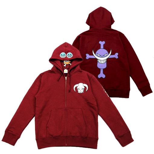 艾斯卫衣红色-《海贼王》艾斯连帽卫衣
