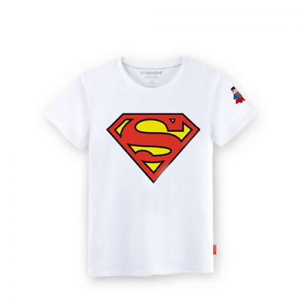 超人T恤-超人Logo印花男款白色T恤