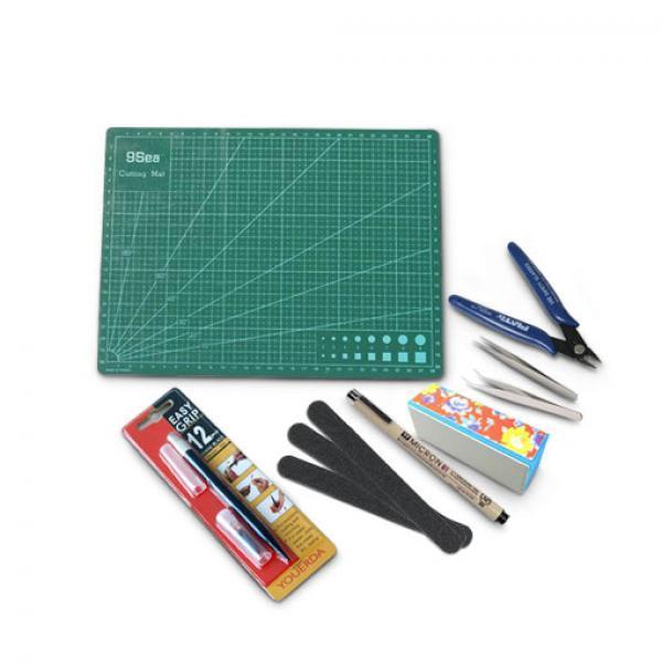 高达工具八件套-高达模型专用制作工具基础套装