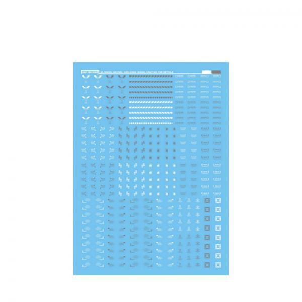 警告系C002 白灰水贴-《高达》大林 通用警告系 高达模型专用水贴