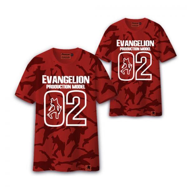 二号机迷彩T恤-《新世纪福音战士》动漫短袖