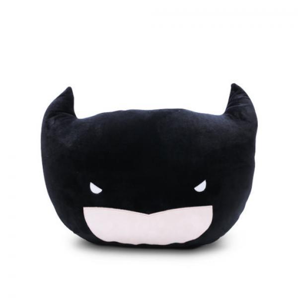 蝙蝠侠毛绒抱枕-《蝙蝠侠大战超人:正义黎明》蝙蝠侠头部毛绒靠垫