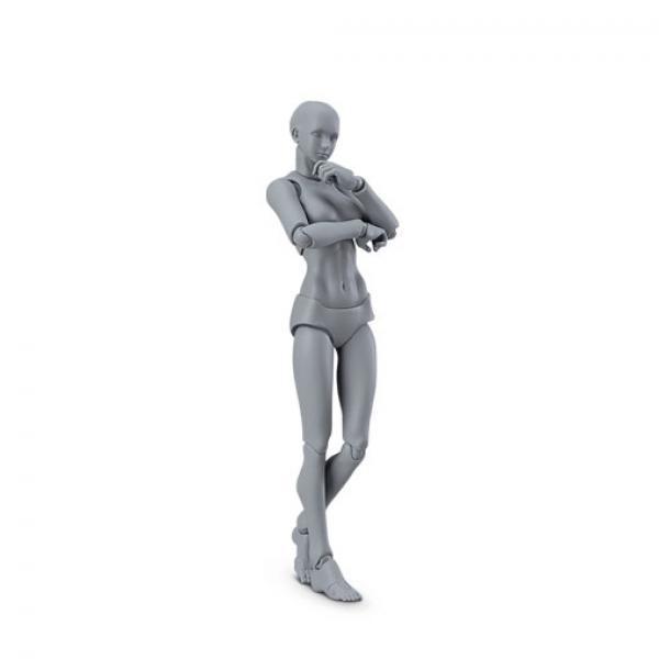 MF figma 03女 灰色女性素体人原型-MaxFactory archetype nextshe gray color ver. 正版可动人偶