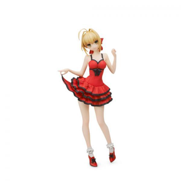 FLARE 红裙尼禄 手办-《Fate EXTRA》 Saber Nero 红色连衣裙 正版手办