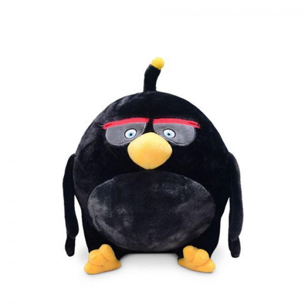 Aoger 炸弹 毛绒玩具-《愤怒的小鸟》 炸弹黑 正版毛绒