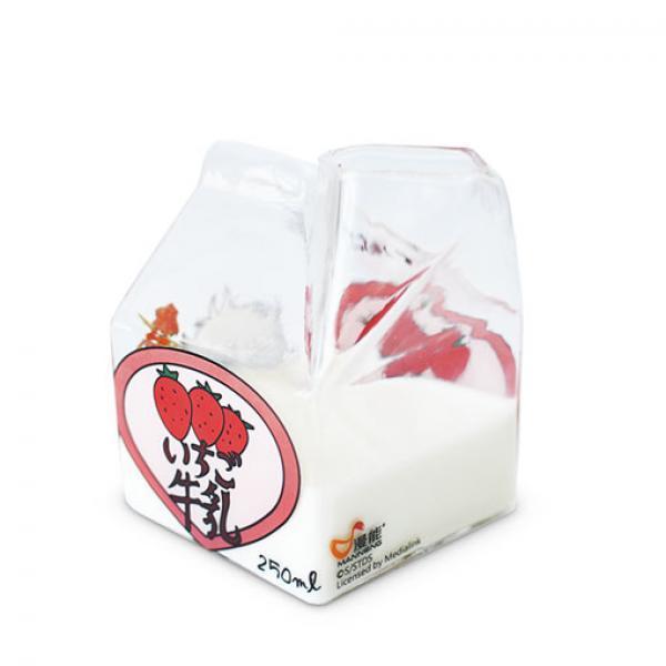 草莓牛奶杯-《银魂》 牛奶盒 正版玻璃杯 现货