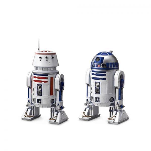 万代 R2-D2&R5-D4-《星球大战》 万代 宇航技工机器人 拼装模型