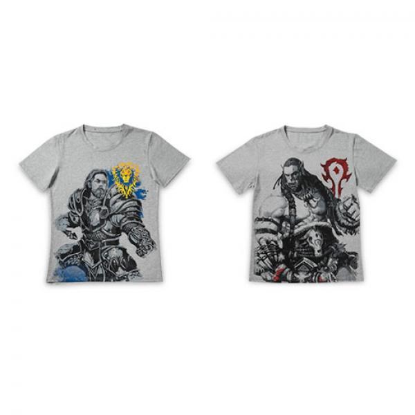 魔兽手绘风战斗T恤-《魔兽世界》 正版T恤 现货