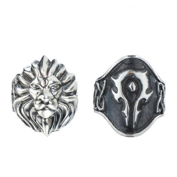 魔兽戒指-《魔兽世界》 925银戒指 正版指环 现货